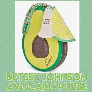 "Betsey Johnson Avocado ""Holy Guacamole"" Purse"